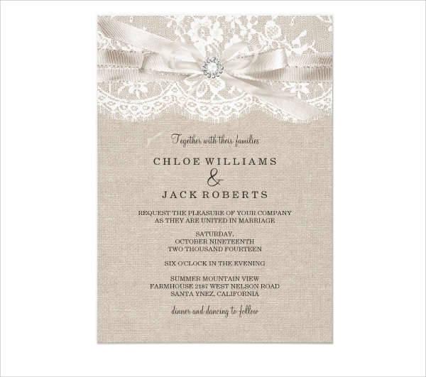 vintage wedding lace invitation