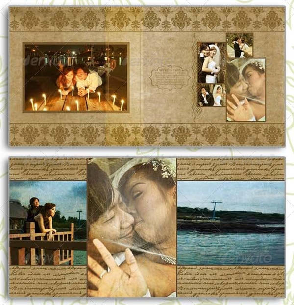 Vintage Wedding Photo Album Design