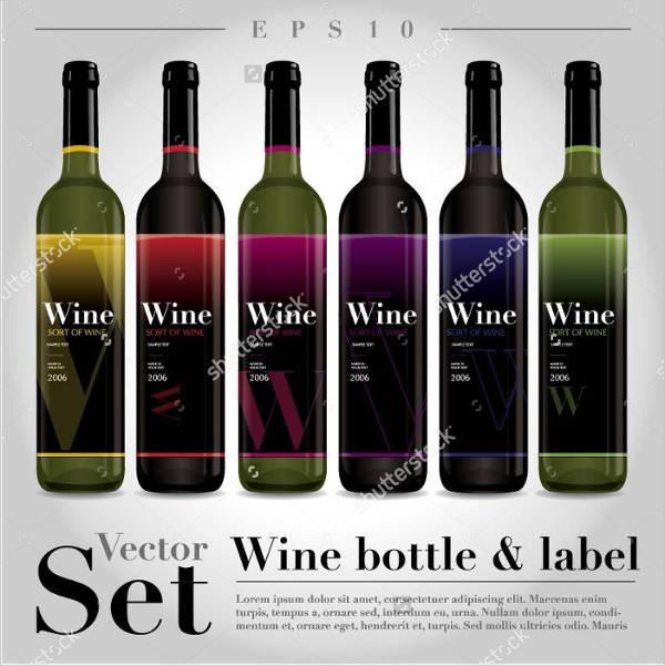 vintage wine bottle label