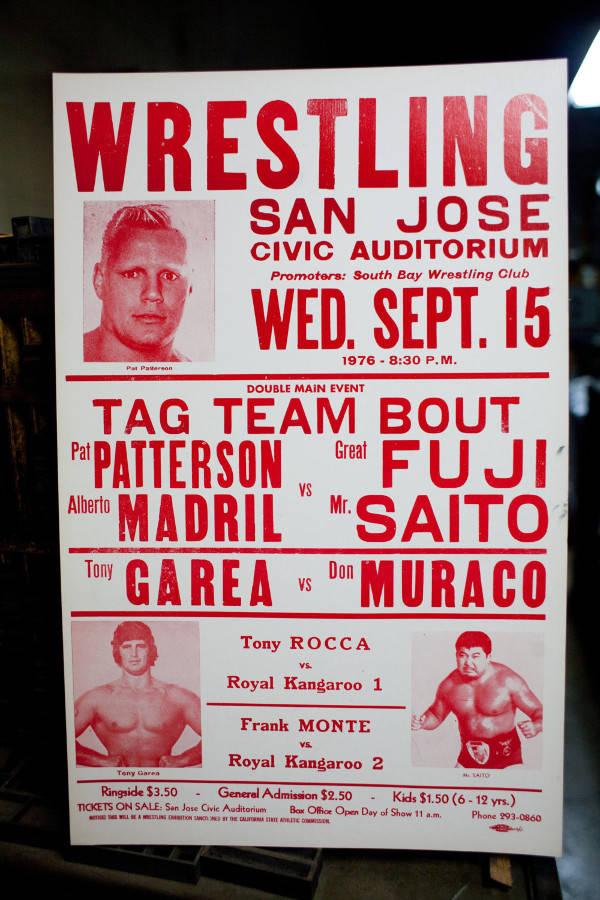 vintage wrestling event poster
