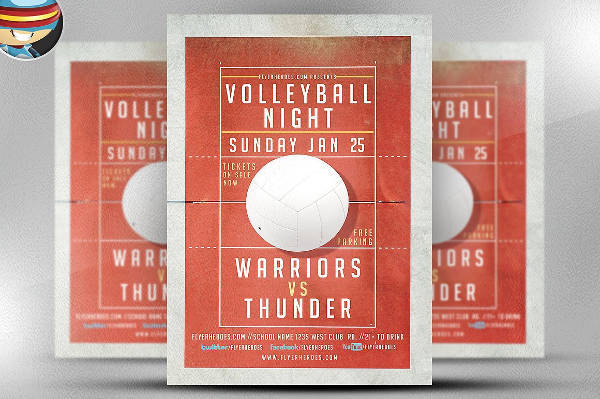 Volleyball Night Sports Flyer