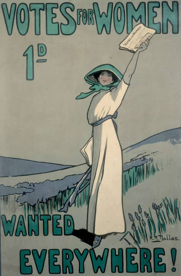 votes for women – 1909 suffragette poster