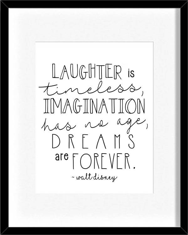 walt disney quote poster