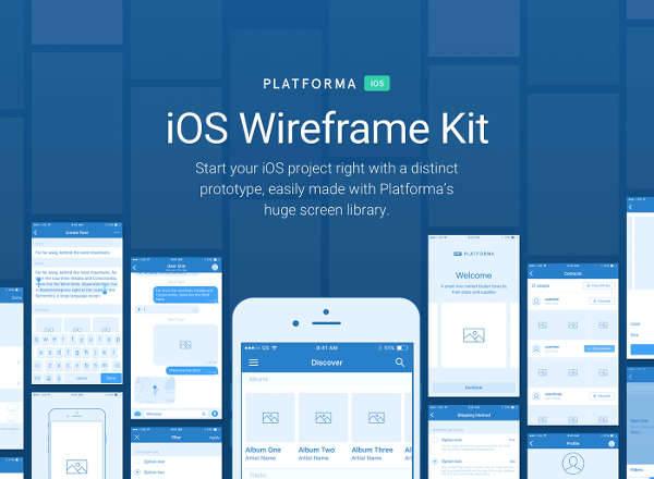 web ui wireframe kit