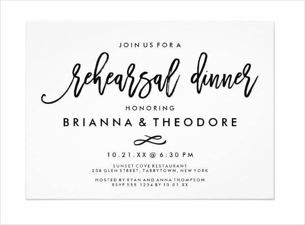 Wedding Dinner Invitation Card