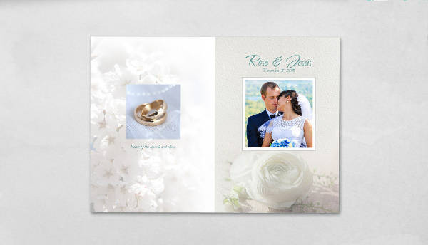 wedding photo album psd1