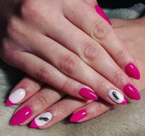 wedding shellac nail design idea