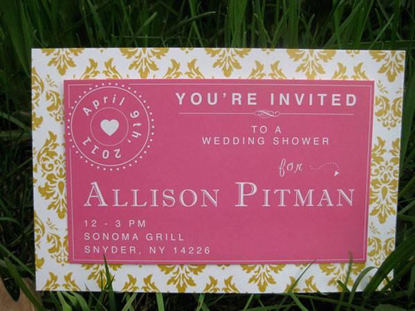 Wedding Shower Party Invitation