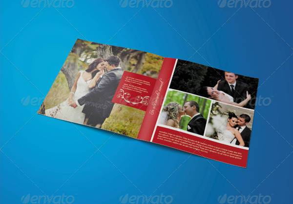 Wedding Square Photo Album Template