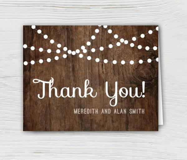 Wedding Thank You Invitation Card