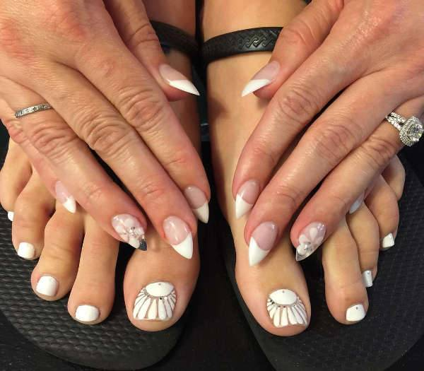 wedding toe nails design
