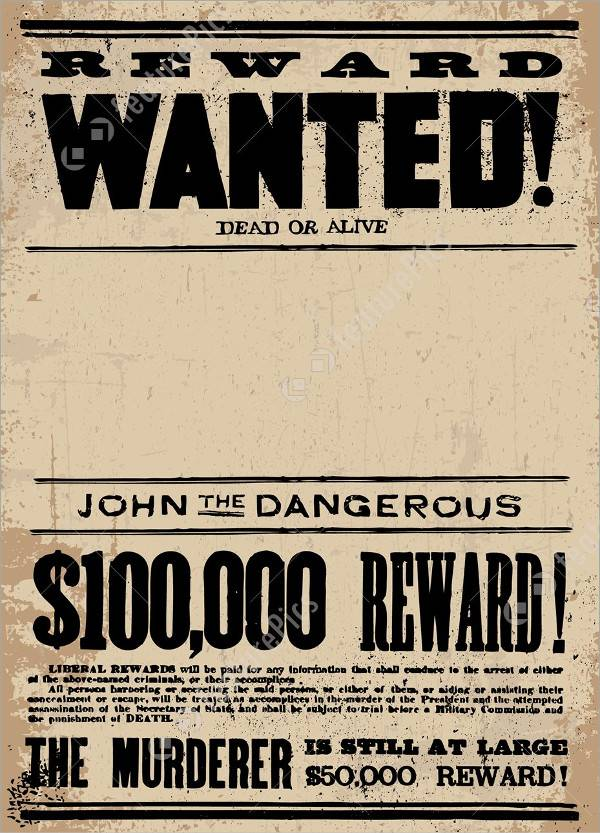 western wanted reward poster1