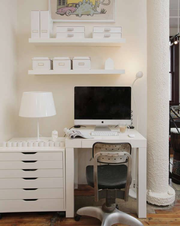 white laptop desk design ideas