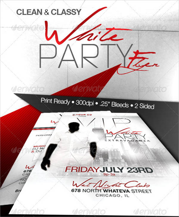 White Party Event Flyer