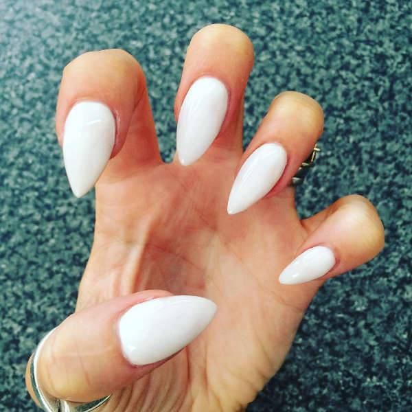10 pointy nail designs ideas design trends premium psd white pointy nail design prinsesfo Gallery