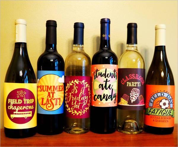 wine bottle label design template