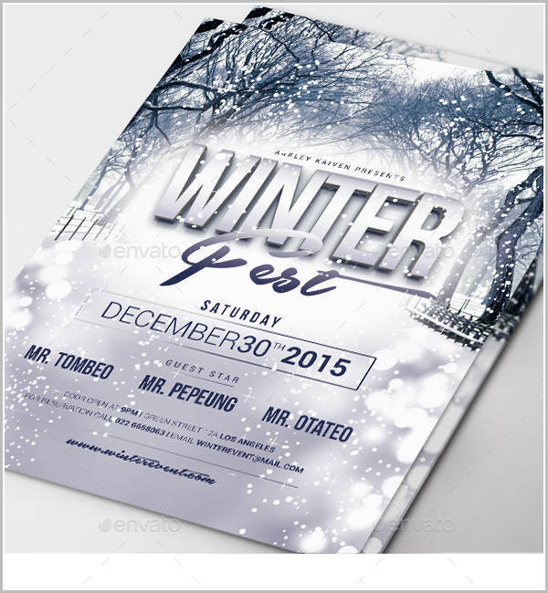 Winter Event Invitation Flyer