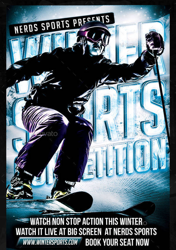 Winter Sports Competition Flyer