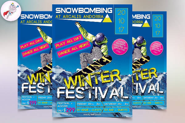 Winter Sports Flyer in PSD