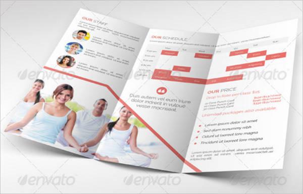 Yoga and Fitness Tri-Fold Brochure