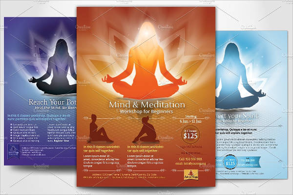 Yoga and Meditation Flyer Template