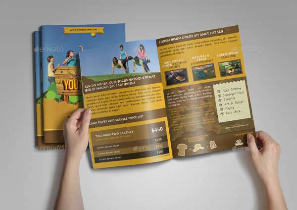 Youth Camp Bi-fold Brochure
