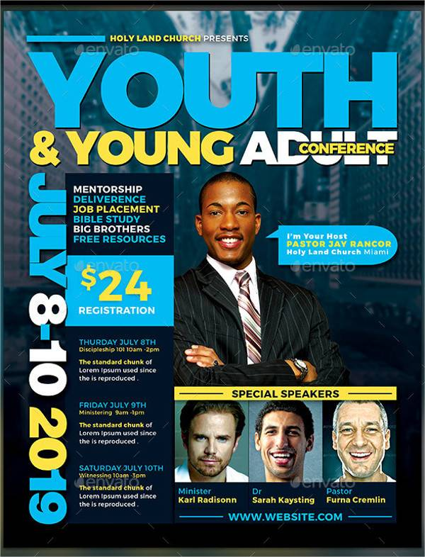 Youth & Young Adult Conference Flyer
