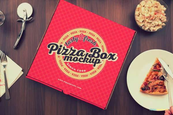 yummy pizza box mockup
