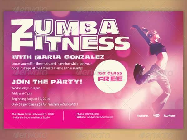 Zumba Fitness Class Flyer