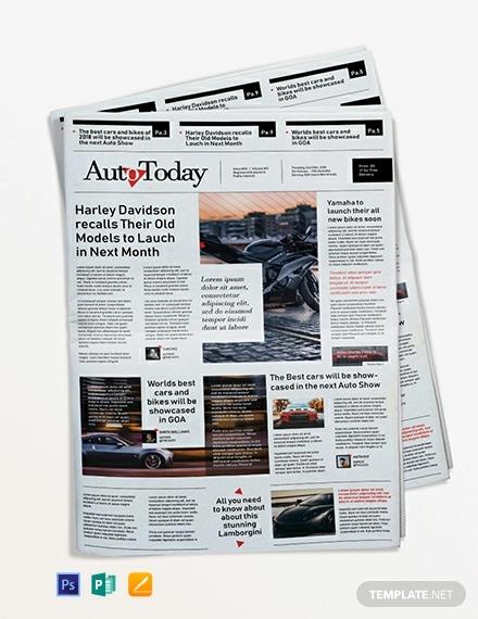 automobile news paper