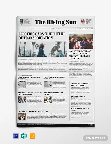 29  newspaper design templates
