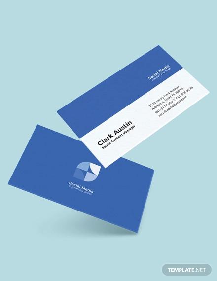 simple social media business card