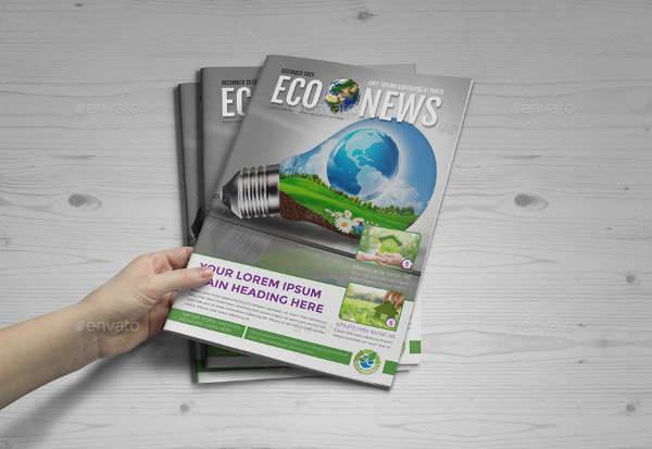 12 page eco newsletter design