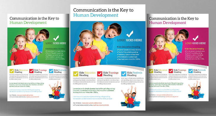 15 school flyers design trends premium psd vector for Education brochure templates psd free download