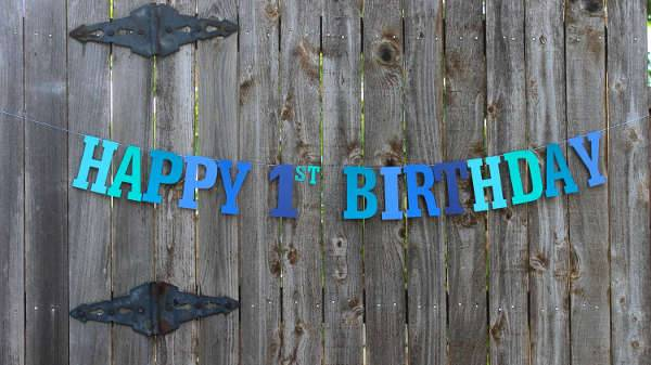 1st Birthday Banner Design