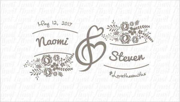 30+ Wedding Logo Design Templates