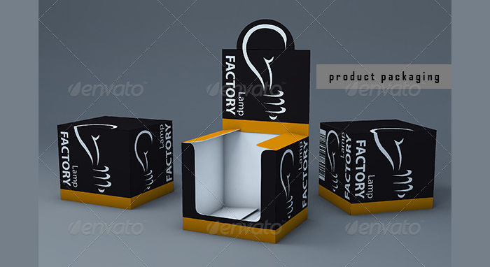 3D Box Packaging Template