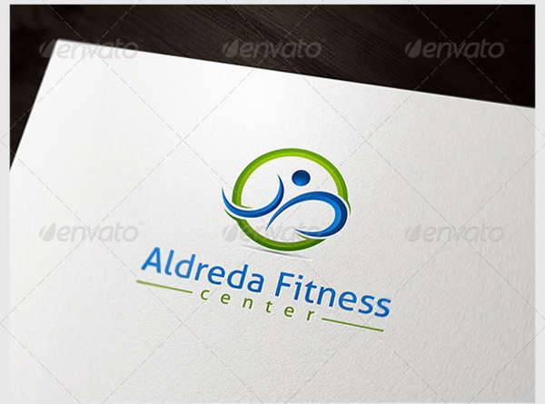 3D Fitness Center Logo