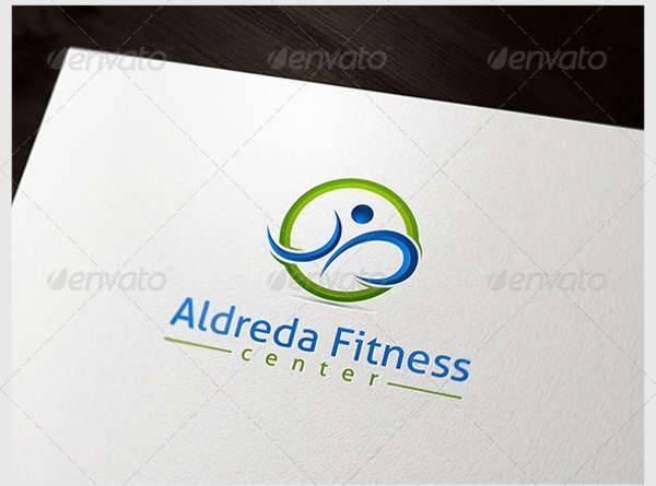 3d fitness center logo
