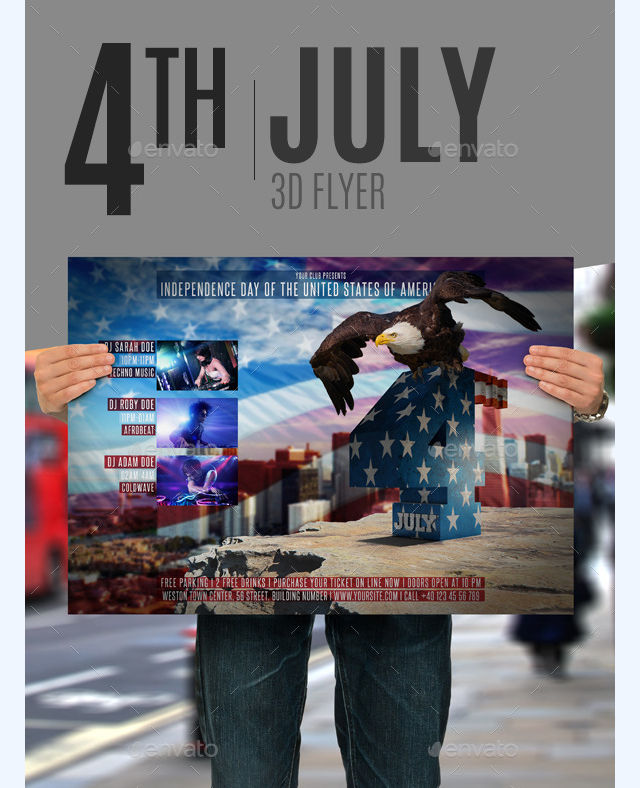 4th of july 3d flyer