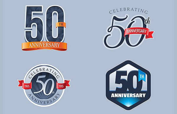 50th Wedding Anniversary Logo