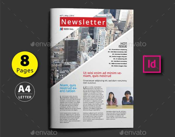 8 pages newsletter design template