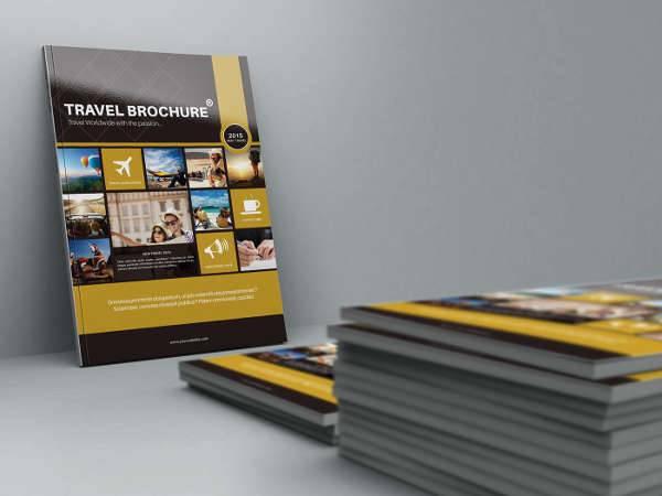 A4 Bifold Travel Brochure