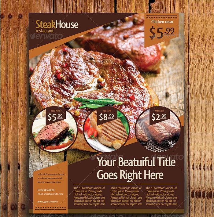 A4 Restaurant Flyer