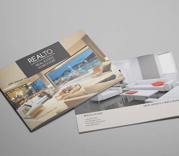 a5 real estate catalog brochure