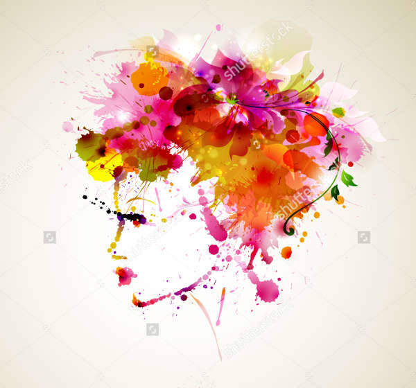 abstract fashion woman design