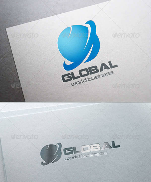 abstract global business logo