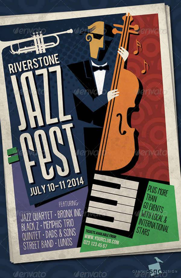 abstract jazz poster