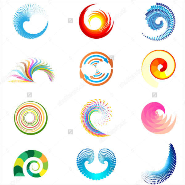 abstract swirl shapes