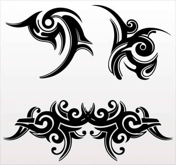 abstract tattoo design vector